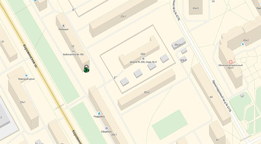 магазин замков - схема проезда